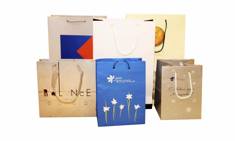 """Пакеты с логотипом от типографии """"Капитал Принт"""""""